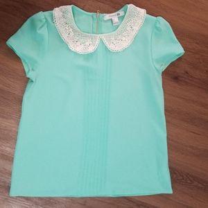 Vintage style mint blouse